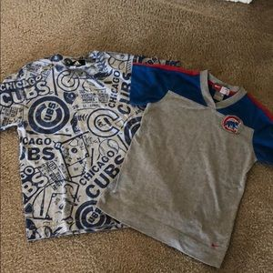 Boys used MLB Chicago Cubs shirts. Nike/adidas sz8